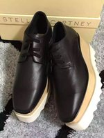 Women oxfords fashion - 2017 Hot Sale Stella Mccartney Shoes Top Quality Genuine Leather Women Fashion Platform Wedge Platform Oxfords Boost Sneakers