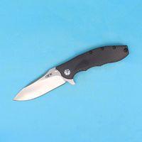 Wholesale High Carbon Pocket Knives - High End OEM 0562CF Hinderer Design Flipper Folding Blade knife D2 Satin Drop Point Blade Carbon Fiber Handle EDC Pocket knives