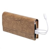 Wholesale External Phone Case Charger - HOCO P4 4800mAh External Battery Charger Wallet Mobile phone leather case Power Bank for smartphone for i7 i6 HUAWEI XIAOMI ZTE