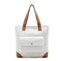 Wholesale Handbag Summer Folding - 2017 New Women Canvas Shopping Bag Shopper Tote Zipper Eco Shoulder Versatile Sack Summer Holiday Beach 2 combinations Handbag bolsos