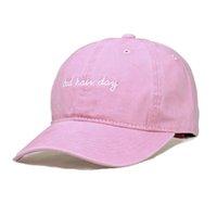 Wholesale Bad Snapback - Wholesale- FAIRY SEASON Summer Bad Hair Day Baseball Cap For Men Or Women Fashion Brief Style Snapback Bone Hats Pink Grey Blue Hat