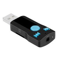 автомобильный аудиоадаптер usb оптовых-Мини USB беспроводной 3.0 Bluetooth музыкальный приемник 3.5 мм аудио адаптер автомобиля aux динамик рецептор для Iphone