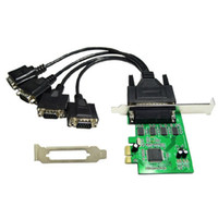 Wholesale Pcie Rs232 - 4 port Serial RS232 RS-232 COM port to PCI-e Express PCIE Adapter with Cable 9904 Chip