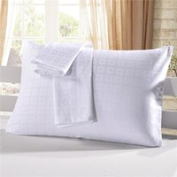 Wholesale standard pillow case size resale online - Hot sale White pillow cases in sizes cotton satin standard pillow shames for home hotel Pillow Case