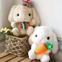 Wholesale toys amusing plush resale online - sitting cm including ear cm Soft adorable rabbit Japanese Amuse Lop plush toy doll rabbit doll birthday gift Best Gift