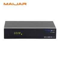 Wholesale Dvb Combo - 6pcs Freesat V7 Combo Satellite Receiver DVB-S2 + DVB-T2 Combo Receiver Support PowerVu Biss Key Cccam Newcam Youtube Youporn USB 3G Dongle