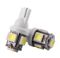 coche llevó bombillas de luz cuña al por mayor-100 UNIDS T10 5SMD 5050 Xenon LED bombillas W5W 194 168 LED Blanco Car Side Wedge Tail Light lámpara precio al por mayor