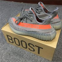Wholesale Yellow Boots For Girls - ORIGINALS Y BOOST 350 V2 KANYE WEST STEGRY BELUGA SOLRED ROUSOL RUNNING SHOES SPLY-350 MENS SNEAKERS CHARCOAL GREY SPORTS SHOES FOR GIRLS