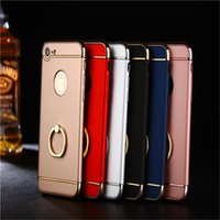 Wholesale Three Mobile Cell Phones - for iphone7 A high-quality mobile phone shell apple 6Plus 5SE hard shell iphone6 I6 three in one cell phone shell and Support Free Delivery