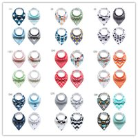 Wholesale fleece bibs - 172Designs XMAS INS Moose Deer fox bibs Burp Cloths new baby girls boys waterproof Pure cotton double layer fleece 2snap bibs burp cloths