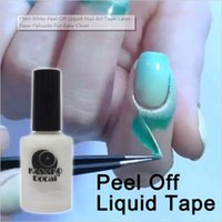 Wholesale Peel Off Base Coat - 15ml White Peel Off Liquid Nail Art Tape Latex Tape Palisade For Easy Clean Base Gel Coat DIY Tool