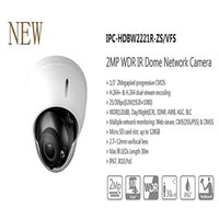 Wholesale Ipc Securities - Free Shipping DAHUA Security IP Camera CCTV 2MP WDR IR Dome Network Camera IP67 IK10 With POE Without Logo IPC-HDBW2221R-ZS