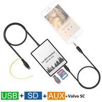 Wholesale Volvo Mp3 Player - Car MP3 Player USB SD AUX Input MP3 Audio Adapter Digital CD Changer for Volvo SC700 SC800 SC801 SC802 SC805 SC810R SC811
