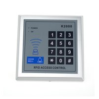 Wholesale proximity reader access control - Wholesale- 100pcs K2000 Door Access Control Keypad RFID ID Cards Proximity Reader for Home Offices Security System