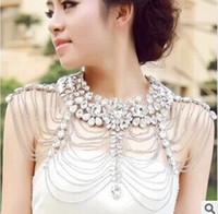Wholesale Epaulets Accessories - 2017 elegant bride wedding wedding accessories chain necklace shoulder epaulets jewelry wholesale high-grade crystal shoulder chain