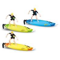 Wholesale Water Control Boats - Wholesale-Great Wall 2310 2.4GHz High Speed Remote Control Surfboard RC Surf Boat Surfer Toys in Water for Summer Surfing Fun Gift Child