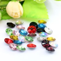 Wholesale 12mm Rivoli Crystal Wholesale - 12mm Rivoli Fancy Stone Point Back No Hole 50pcs bag Crystal K5 Glass Stone (10 Different Color Available)