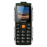 Wholesale Dual Sim Waterproof Shockproof - Uhans V5 Waterproof phone shockproof Elder cell phone Dual sim 2500Mah power bank Big box speaker Flashlight Child Mobile phone