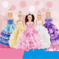 Wholesale Diy Safety Eyes - Anime 30cm Barbie Doll Reborn Baby Born Barbie Doll Toys Puzzle Handmade Safety Eyes Doll Children's Toys