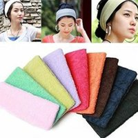 Vente en gros-2pcs / pack Femmes Multicolor Headband Headwear Durable Sweat Absorbant Yoga Bandes de cheveux Serviette pour Yoga et Pilates Exercice