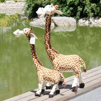 Wholesale Giant Giraffe - Giant Plush Animal Toy Stuffed Soft Plush Giraffe Big Kawaii Plush Peluches Grandes Toys For Girls Pelucia Personagens 70G0301
