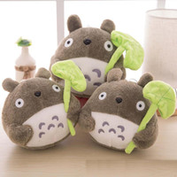 """Wholesale Lotus Doll - Hot lovely plush toy my neighbor totoro plush toy cute soft doll totoro with lotus leaf kids toys Cat 8"""" 20cm"""