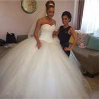 Wholesale Heavy Training Corset - Wedding Gowns 2017 Robe De Mariee Princesse Gorgeous Ball Gown Corset Wedding Dresses with Heavy Beads