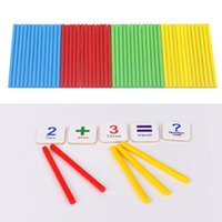 Wholesale Wooden Math Sticks - toy magnets Creative Wooden Counting Math Toys Number Sticks Fridge Magnet Mathematics Early Learn Educational montessori Kids Baby gifts