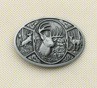 Wholesale Deer Belt - Browning Hunter Deer Western Belt Buckle SW-BY581 suitable for 4cm wideth belt with continous stock