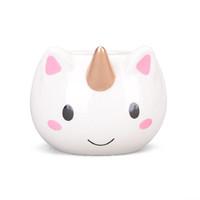 Wholesale Free Pottery - 10pc Free shipping Unicorn Mug 3D New Ceramic Coffee Cup Children Girl Boy Cute Creative Unicorn Mug cosplay Gift 350 ML 2017 new