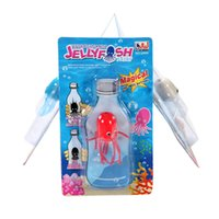Wholesale Jellyfish Wholesalers - Wholesale- Funny Toy Magical Magic Smile Jellyfish Float Science Toy Gift For Children Kids Randomly