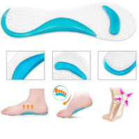 Wholesale Silicone Gel Insoles For Shoes - 3Pair Flat Feet Orthotic Arch Support Gel Pads Non-Slip Pain Relief Shoes Insoles For High Heels Silicone Gel Shoes Pads Forefoot Gel Pads