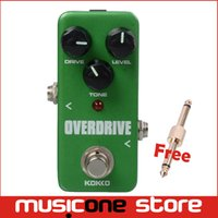 Wholesale Pedal Connectors - KOKKO FOD3 Mini Overdrive Effect Pedal Portable Guitar Effect Pedal With gold Guitar Pedal Connector
