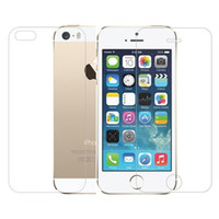 Wholesale Iphone5 Screen Guard Front Back - Front & Back (2pcs) High Quality Tempered Glass Premium Real Film Screen Protector Guard for apple iphone5 5S 5se protect the glass