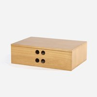 Wholesale Cabinet Desk Organizers - A 4 paper tool cabinet case Wooden desk storage drawer debris cosmetic storage box bin jewelry office Creative gift Home