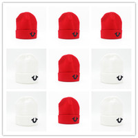 Wholesale Top Hats For Boys - Good Quality A Hat Letter Religion Casual Beanies for Men Women Fashion Knitted Winter Hat Solid Color Hip-hop Bonnet Unisex Cap Gorro