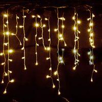 weihnachtsbaum lichtvorhang großhandel-220 V Led Weihnachtsbaum Led Licht Ornament 4 mt Multicolor Eiszapfen Vorhang Party Hochzeit Dekoration Lichter für Zuhause 2017 Eu-stecker