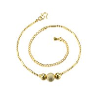 Wholesale Gold Butterfly Anklet - Fashion Gold Plated Anklets Nice Sexy Simple Link Chains Anklet Ankle Foot Jewelry Gift with Butterfly Beads Charms for Women Ladies Girls