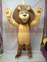 Wholesale Make Madagascar Alex Costume - lion mascot costume free shipping, cheap high quality carnival party Fancy plush walking madagascar alex mascot adult size.