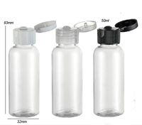 Wholesale Screw Top Empty Container - Wholesale- 30 x 50ml Refillable Portable PET Plastic Flip TOp Cap Bottle Clear Transparent Empty Lotion Cosmetic Container