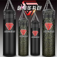 Wholesale Kick Boxing Sandbag - Hollow 80 100 120 160 180 cm Training Fitness Boxing Punching Bag Hook Hanging MMA Sandbag Kick Fight Muay Thai saco de pancada