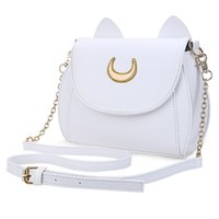 Borsa da donna lunga Sailor Moon Ladies Black Luna catena catena borsa a tracolla in pelle Donne Messenger Crossbody Small Bag
