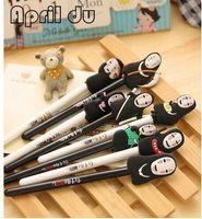 Wholesale pen multicolor - 10pcs Studio ghibli No Face Kaonashi Anime Action Figures Pen Kids Toys