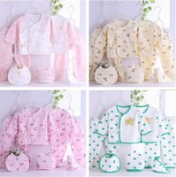 Wholesale 7pcs set Newborn Baby Clothes set infant Cartoon cotton Summer spring Fall suit outfit Baby Kids Clothing outfit set M