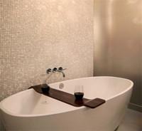 Wholesale Pearl White Tile - HOT!!Seamed natural White shell tiles, Mother of Pearl Shell Kitchen Backsplash  Bathroom home wall decoration mosaic tiles sticker,LSBK2001