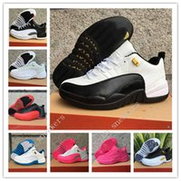 Wholesale Navy Wings - Hot retro 12 XII wings Low mens Basketball Shoes Sneakers women Retro 12s Gold Wings Black Golden Running shoes for men Sports casual shoes