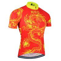 mtb ropa china al por mayor-BXIO Camisa de Ciclismo de Estilo Chino Rojo Transpirable Jersey Ciclismo MTB Anti Pilling Bicicletas Ropa Puede Ser Al Por Mayor Ropa Ciclismo BX-023