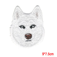 Wholesale Wholesale Embroidered Dog Patches - Siberian Husky Dog Breed Embroidered Applique Patch Animals,IRON ON OR SEW Forest