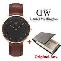 Wholesale Men Simple Style Watch - Simple Style Watches Men Women Casual Leather Strap Quartz-watch Men 2016 Fashion Luxury Brand Black Wristwatches Quartz Watch Ladies Gifts