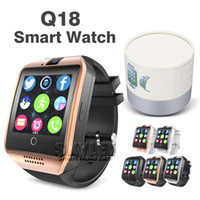 Wholesale Camera Remote Control Wholesale - Q18 Bluetooth Smart Watch Support SIM Card NFC Connection Health Smartwatches For Android Smartphone with Retail Package